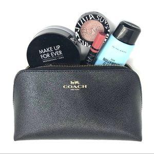 Coach Crossgrain Leather Cosmetics Case 17
